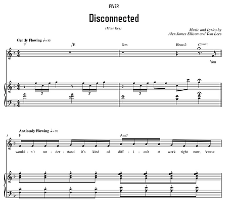 Disconnected - F Major (Male Key)