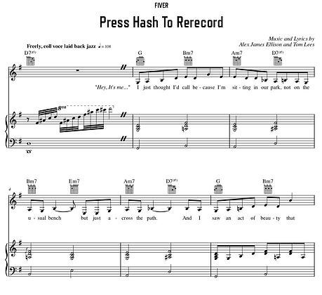 Press Hash To Re-Record - G Major (Original Key)