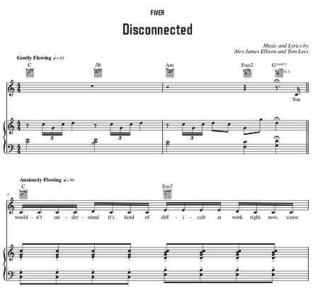 Disconnected - C Major (Original Key)