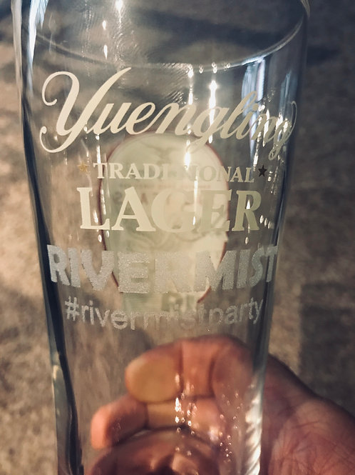 16 oz. Yuengling / Rivermist Etched Lager Glass