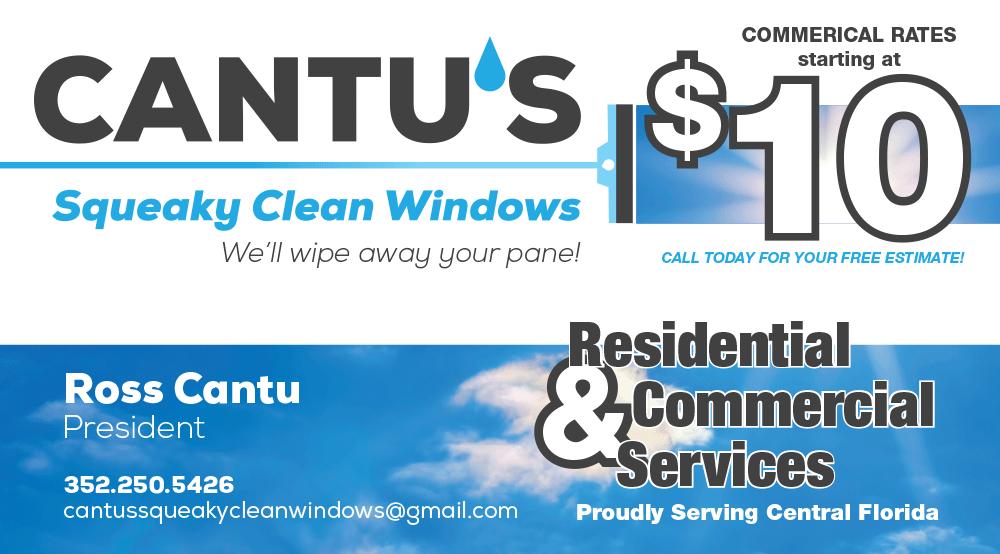 Cantu's Squeaky Clean Windows