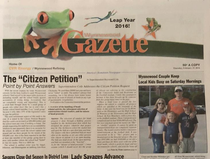 Wynnewood Gazette