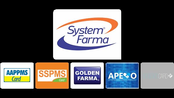 Aceitamos convênios: System Farma, Aappms Card, SSPMS Card, Golden Farma, Apevo, CruzeiroCard entre outros