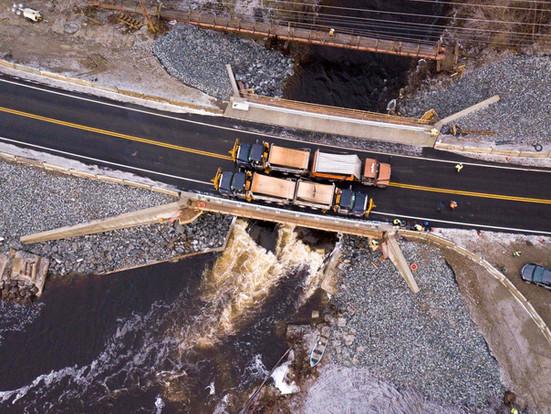 Grist Mill Bridge Open to Traffic with AIT Bridges Composite Beams