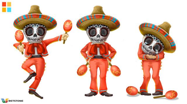 Mexican culture motif bonus game