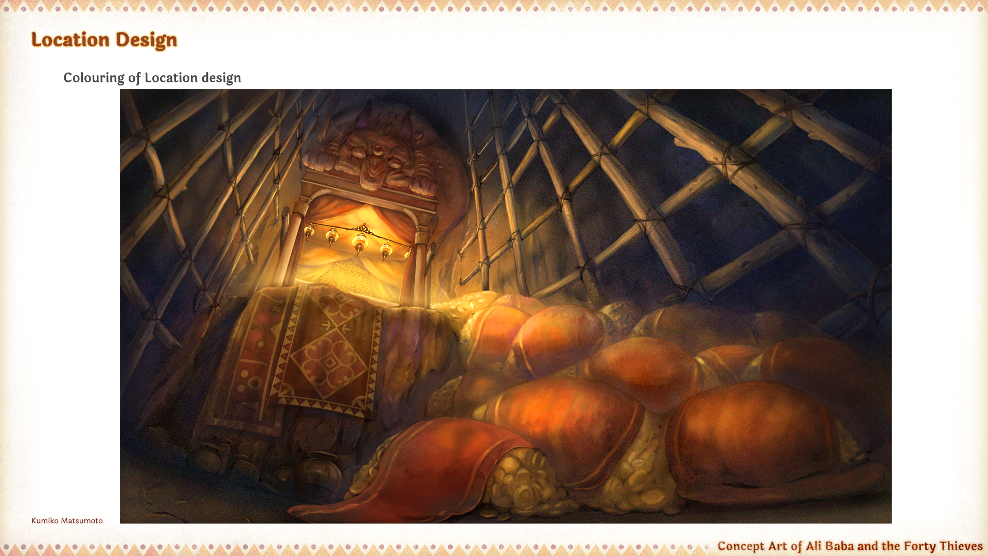 Location design of Alibaba and the 40 thieves