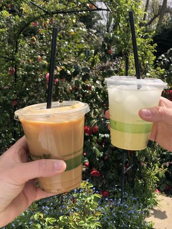 Iced Latte and Homemade Lemonade