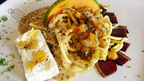 Fricassée de Magret aux 2 Sichuan Pâtes de Seigle Fraîches à la Mange, Fenouil & Moutarde