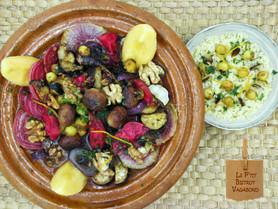 Tagine d'Agneau en Salmigondis de Fruits et Légumes  de l'Automne