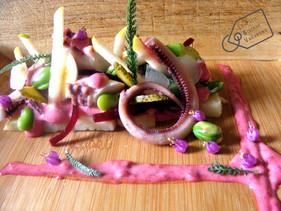 Salade de Poulpe sur Tartine de Grenailles