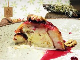 Les 4 saisons: fleurs et baies de sureau, pommes, noix, crème glacée