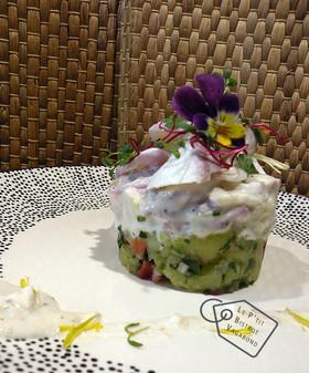 Plaisir sur Terrasse: Aiglefin, Salade de Pommes de Terre, Concombre, Carottes, Sauce à La Réglisse