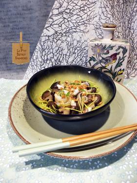 Soupe Miso à la Sole, Champignons et Oca