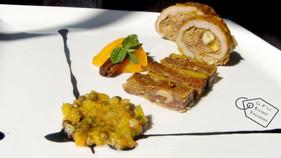 Paupiette de Canard, Bonbon de Patidou, Abricot Épicé