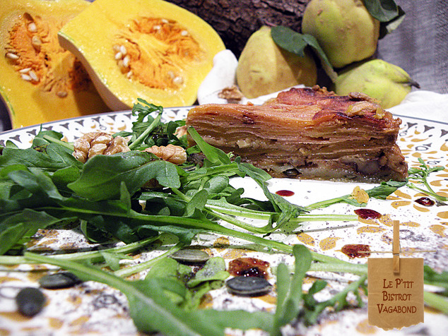 """""""Tatin"""" Butternut, Coing,  aux 4 fromages"""