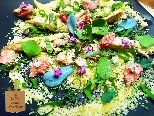 Maquereaux en salade de Quinoa et herbes du jardin