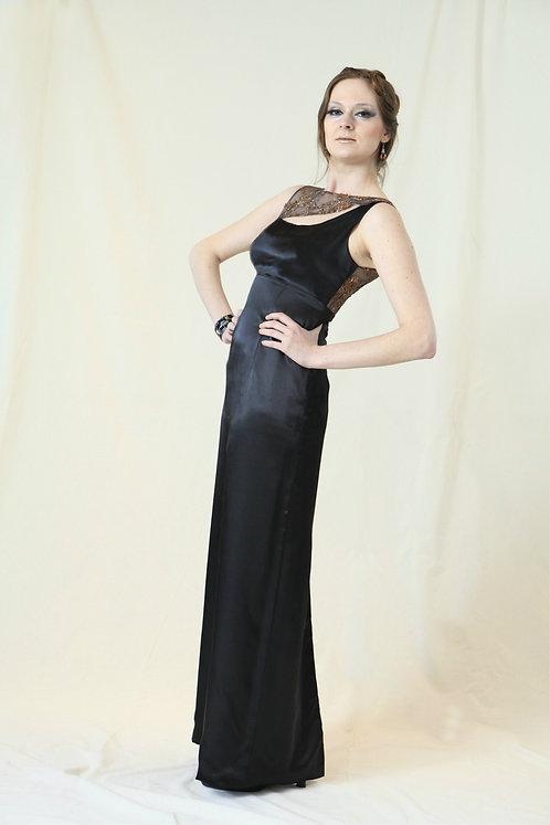 elegant long black evening dress