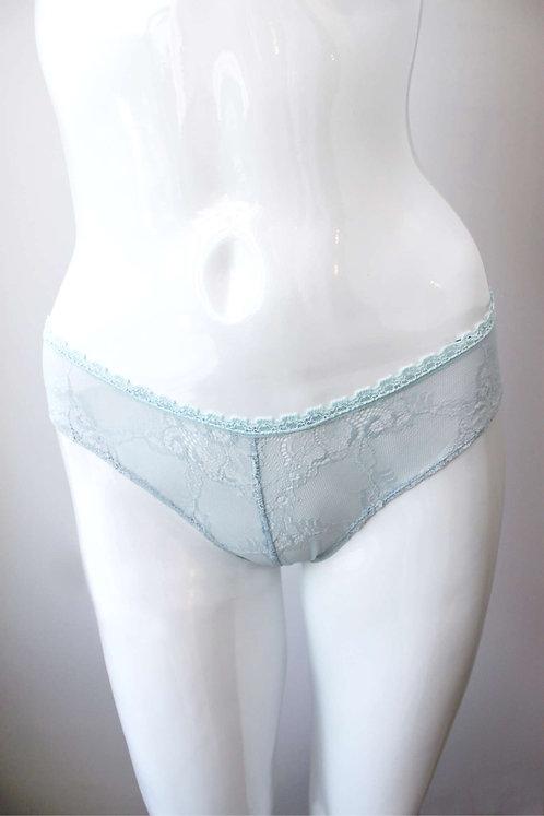 light blue soft lace panties