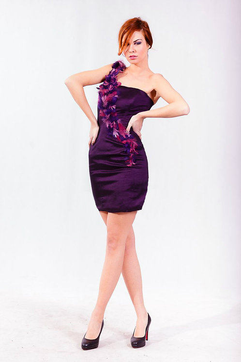 feather party dress