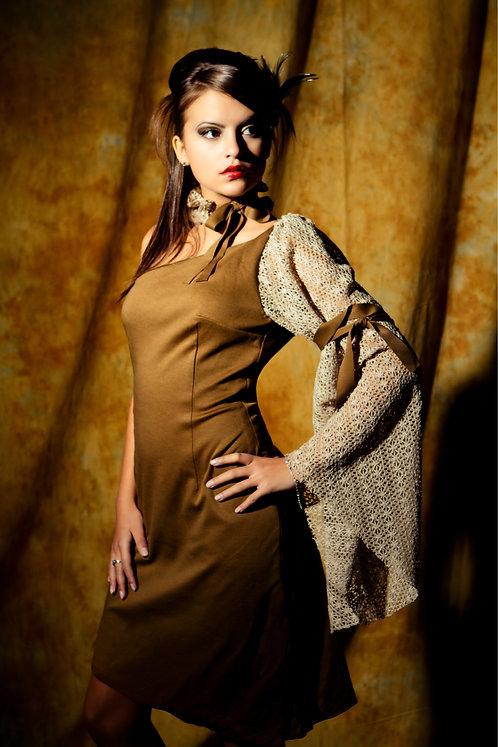 feminine asymmetrical dress
