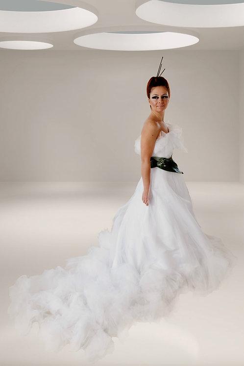 sea foam wedding dress