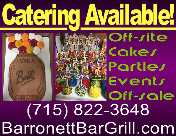 bar,bars,cumberland,shell,lake,wi,wisconsin,restaurant,restaurants,specials,daily,lunch,dinner,fis,fry,friday,happy,hour,pool,leagues,dart,die,in,carry,out,to,go,employment,jobs,barronett,grill,meetings,banquet,room,birthday,parties,beer,pizza,burgers,facebook,discounts,menu,online