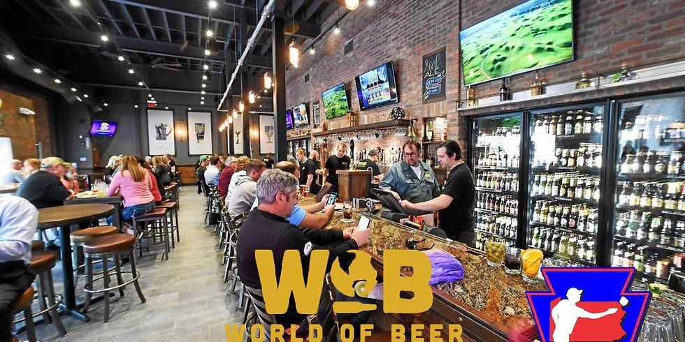World of Beer Cornhole Tournament $1500 grand prize