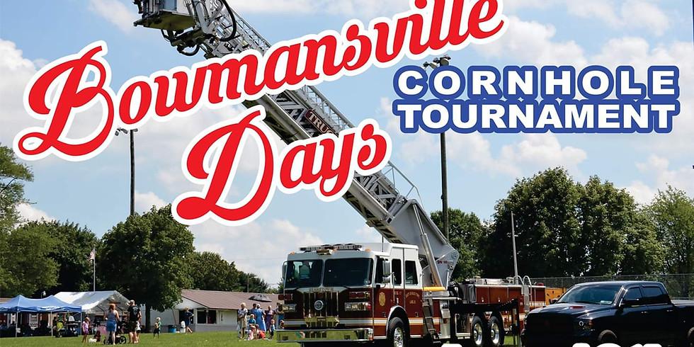 Bowmansville Days cornhole tournament
