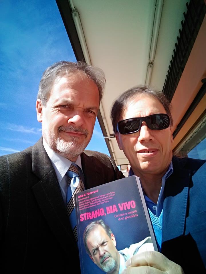 Fioravanzi con Carlo Zerbo, autore della foto in copertina