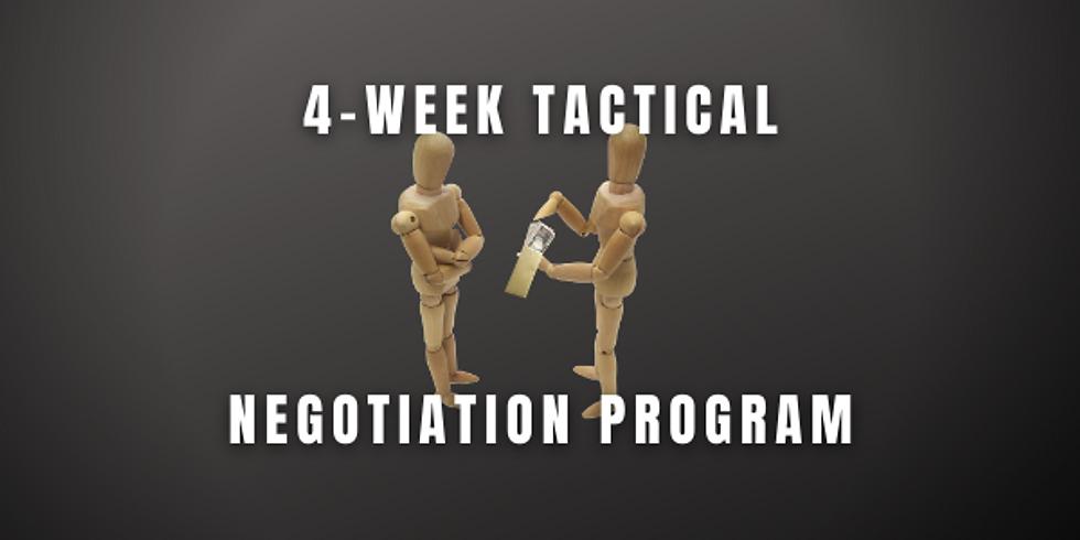 4-Week Tactical Negotiation Program