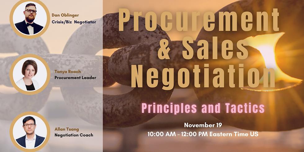Procurement and Sales Negotiations