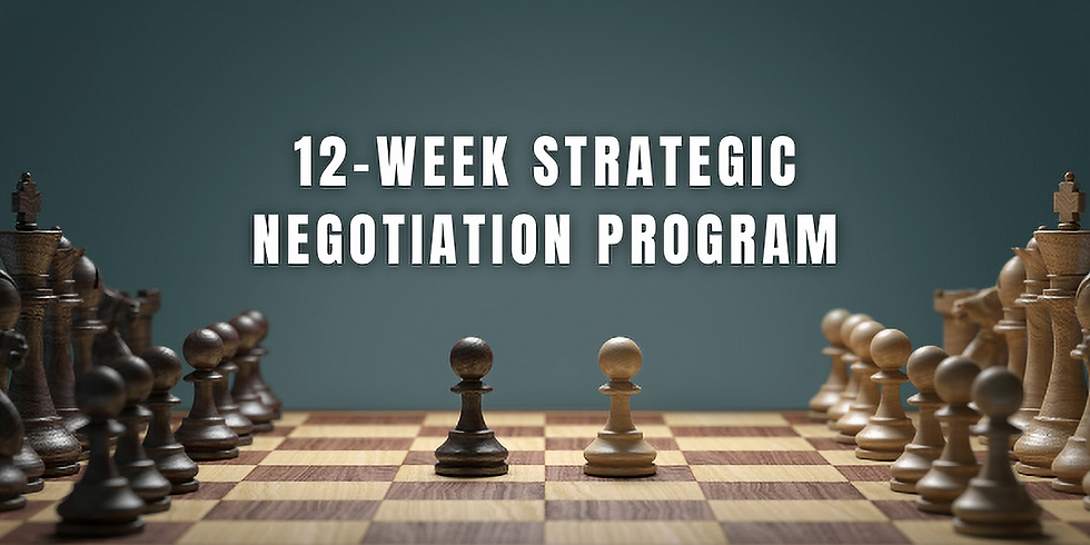 12-Week Strategic Negotiation Program