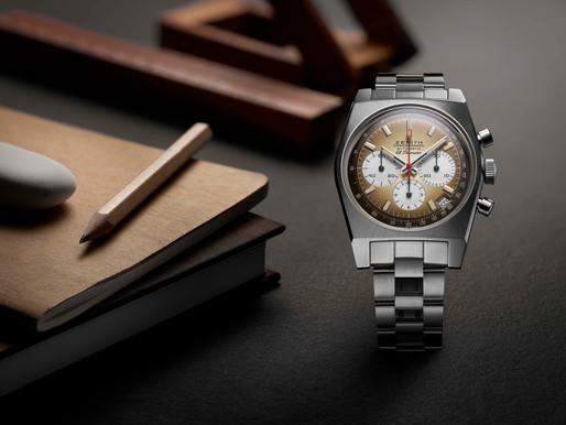 ZENITH 半世紀前的煙燻錶盤 ZENITH Chronomaster Revival復刻版腕錶