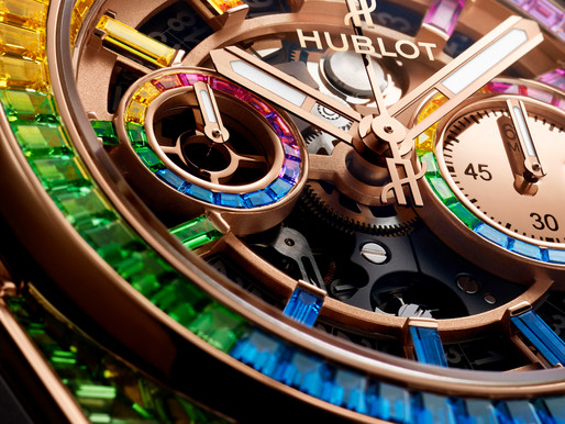 新一年喜見彩虹 HUBLOT Big Bang Unico Full Baguette King Gold Rainbow