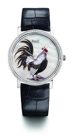 Altiplano掐絲琺瑯腕錶 直徑38毫米18K白金錶殼,鑲飾78顆圓形美鑽(約重0.7克拉),大明火掐絲琺瑯錶盤/時分指示/伯爵430P超薄手動上鍊機芯,動力儲存約43小時/限量38枚,HKD$497,000