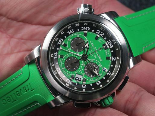 新錶上手 CARL F. BUCHERER Patravi TravelTec Color Edition: Green/Spring