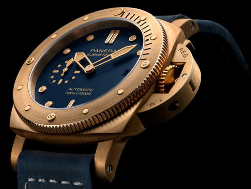 【WATCHES & WONDERS 2021】PANERAI 首款42mm青銅錶款PAM01074Submersible Bronzo Blu Abisso