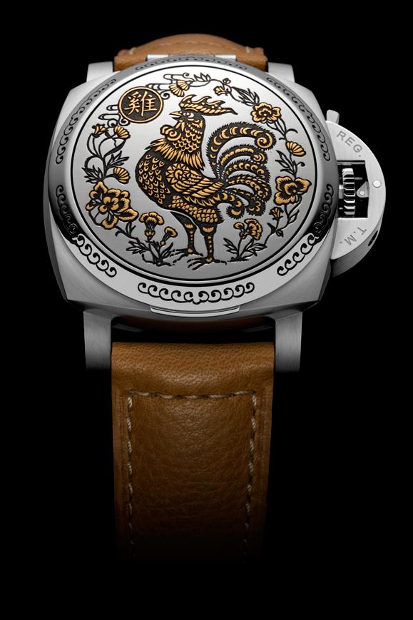 Luminor 1950 Sealand 3 Days Automatic 雞年限量版腕錶 直徑44毫米精鋼錶殼,手工鐫雕拋光精鋼錶蓋/時分指示,小秒盤,日期顯示/自家製P.9000自動上鍊機芯,3日鍊/限量99枚,HKD$183,000