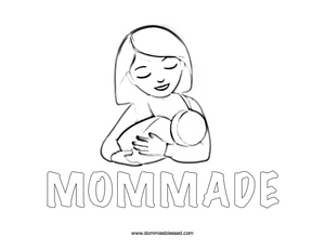 Mom Made Breastfeeding Coloring Page   DommiesBlessed