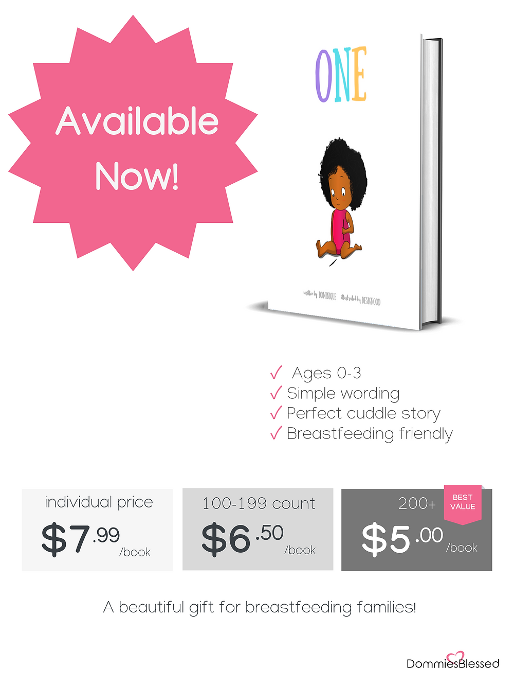 Breastfeeding Friendly Children's Book | DommiesBlessed