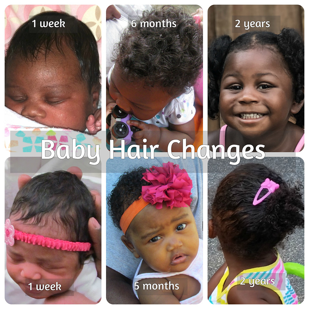baby hair changes