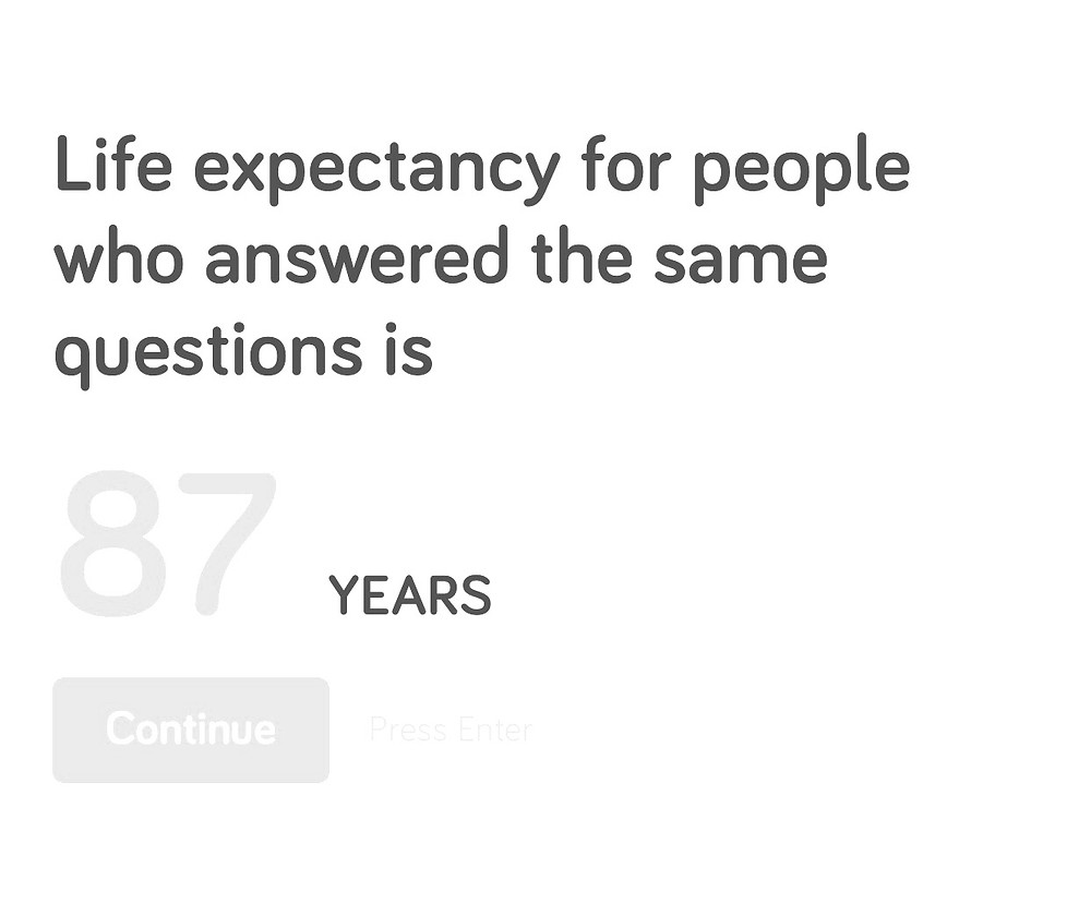 Big Life Life expectancy