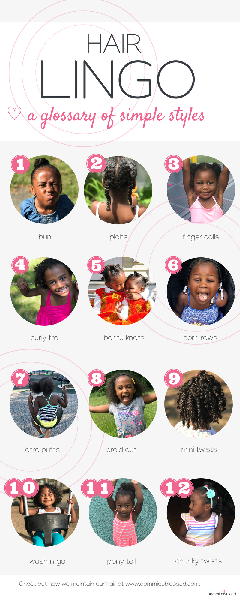 Glossary of Little Girl Hair Styles
