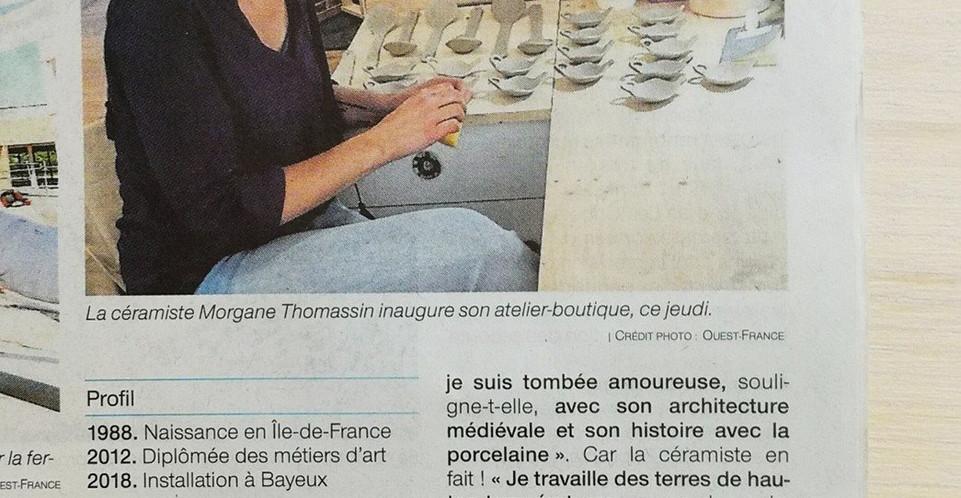 revue de presse_ouestfrance_morgane thom