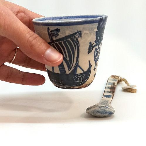 """Tasse expresso """"Mythologie Grecque"""" Ulysse et les Sirènes"""