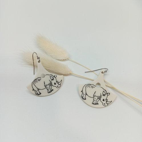 Boucles d'oreilles Rhinocéros