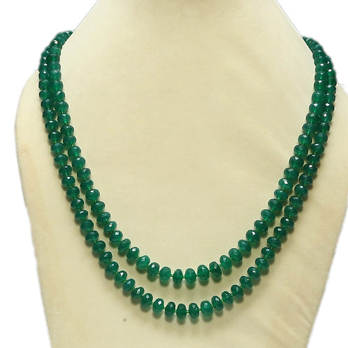 Green Onyx Double String Necklace