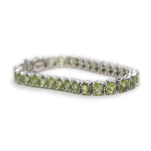 Peridot & Pure Silver Bracelet