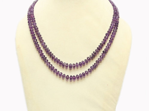 Amethyst Double String Necklace