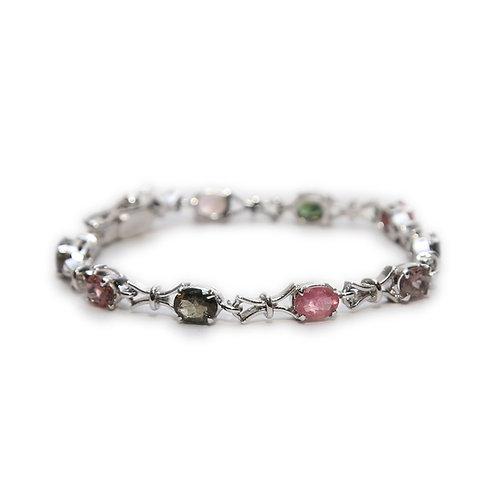 Tourmaline & Pure Silver Bracelet